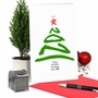 Creative Merry Christmas Greeting Card From NobleWorksCards.com - New Year's Tree - 2021 image 6