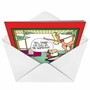Humorous Christmas Printed Card by Gary McCoy from NobleWorksCards.com - North Pole image 2
