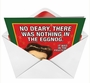 Humorous Christmas Printed Greeting Card from NobleWorksCards.com - Nothing in Eggnog image 2