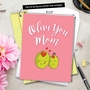 Humorous Mother's Day Jumbo Paper Card from NobleWorksCards.com - Olive You Mom image 6