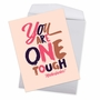 Funny Get Well Jumbo Paper Greeting Card By Offensive+Delightful From NobleWorksCards.com - One Tough Motherf**ker image 2