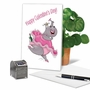 Funny Galentine's Day Paper Greeting Card By Jamie Charteris From NobleWorksCards.com - Only Screw image 5