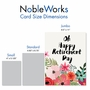 Stylish Retirement Jumbo Paper Greeting Card By Batya Sagy From NobleWorksCards.com - Optimisms image 5