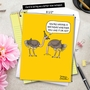 Hilarious Birthday Jumbo Printed Greeting Card By Maria Scrivan From NobleWorksCards.com - Ostrich Party image 6