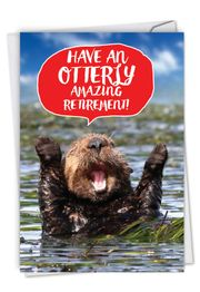 Otterly Awesome - Retiree Card