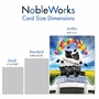Creative Graduation Jumbo Printed Greeting Card From NobleWorksCards.com - Panther Mascot - 2019 image 4