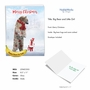 Creative Merry Christmas Jumbo Printed Greeting Card From NobleWorksCards.com - Patterned Animals - Bear image 2