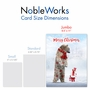 Creative Merry Christmas Jumbo Printed Greeting Card From NobleWorksCards.com - Patterned Animals - Bear image 5