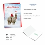 Stylish Merry Christmas Paper Card From NobleWorksCards.com - Patterned Animals - Llama image 2
