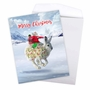 Creative Merry Christmas Jumbo Printed Card From NobleWorksCards.com - Patterned Animals - Rabbit image 3