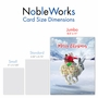 Creative Merry Christmas Jumbo Printed Card From NobleWorksCards.com - Patterned Animals - Rabbit image 5