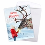 Creative Merry Christmas Jumbo Greeting Card From NobleWorksCards.com - Patterned Animals - Reindeer image 3