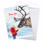 Stylish Christmas Thank You Jumbo Paper Card From NobleWorksCards.com - Patterned Animals - Reindeer image 3