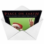 Humorous Christmas Paper Greeting Card from NobleWorksCards.com - Peace on earth image 2