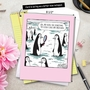 Hilarious Mother's Day Jumbo Printed Greeting Card By Dave Coverly From NobleWorksCards.com - Penguin Daughter image 6