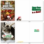 Funny Merry Christmas Paper Greeting Card From NobleWorksCards.com - PetiGreet Cats Christmas image 2