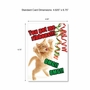 Funny Merry Christmas Paper Greeting Card From NobleWorksCards.com - PetiGreet Cats Christmas image 6