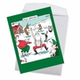 Hilarious Merry Christmas Jumbo Printed Card By Dave Coverly From NobleWorksCards.com - Pole Dancers image 2