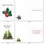 Stylish Merry Christmas Card From NobleWorksCards.com - Punny Holidays image 2