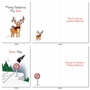 Stylish Merry Christmas Card From NobleWorksCards.com - Punny Holidays image 3