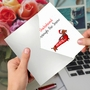 Stylish Merry Christmas Card From NobleWorksCards.com - Punny Holidays - Dachshund image 3