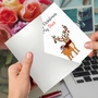 Creative Merry Christmas Greeting Card From NobleWorksCards.com - Punny Holidays - Deer image 3