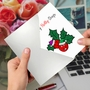 Creative Merry Christmas Printed Card From NobleWorksCards.com - Punny Holidays - Holly-Days image 2