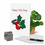 Creative Merry Christmas Printed Card From NobleWorksCards.com - Punny Holidays - Holly-Days image 5