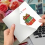 Creative Merry Christmas Printed Card From NobleWorksCards.com - Punny Holidays - Present image 3