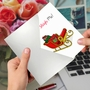 Creative Merry Christmas Printed Greeting Card From NobleWorksCards.com - Punny Holidays - Sleigh Me image 2