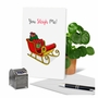 Creative Merry Christmas Printed Greeting Card From NobleWorksCards.com - Punny Holidays - Sleigh Me image 5