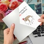 Creative Merry Christmas Printed Greeting Card From NobleWorksCards.com - Punny Holidays - Sloth image 3