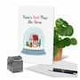 Stylish Merry Christmas Paper Greeting Card From NobleWorksCards.com - Punny Holidays - Snowglobe image 6