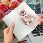 Creative Birthday Paper Greeting Card From NobleWorksCards.com - Puppy Pacifiers - Pink image 2