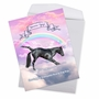 Stylish Thank You Jumbo Paper Greeting Card From NobleWorksCards.com - Rainbow Unicorn Yoga image 3