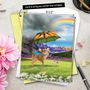 Stylish All Occasions Jumbo Paper Card From NobleWorksCards.com - Raining Dogs image 6