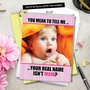 Funny Mother's Day Jumbo Printed Greeting Card from NobleWorksCards.com - Real Name Isn't Mom image 6