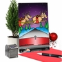 Humorous Merry Christmas Paper Card By Randall McIlwaine From NobleWorksCards.com - Reindeer Hit image 5