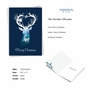 Stylish Merry Christmas Paper Greeting Card From NobleWorksCards.com - Reindeer Silhouette - pond image 2