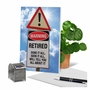 Hysterical Retirement Printed Card From NobleWorksCards.com - Retired Warning Sign image 6