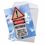 Hilarious Retirement Jumbo Printed Card From NobleWorksCards.com - Retired Warning Sign image 3