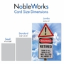 Hilarious Retirement Jumbo Printed Card From NobleWorksCards.com - Retired Warning Sign image 5