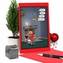 Hilarious Merry Christmas Printed Greeting Card By Tim Whyatt From NobleWorksCards.com - Santa and Parrot image 6