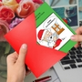 Humorous Merry Christmas Card By Martin J. Bucella From NobleWorksCards.com - Santa Autocorrect image 3