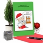 Humorous Merry Christmas Card By Martin J. Bucella From NobleWorksCards.com - Santa Autocorrect image 6