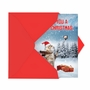 Hysterical Merry Christmas Greeting Card From NobleWorksCards.com - Santa Cat Selfie image 2