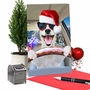 Humorous Merry Christmas Card From NobleWorksCards.com - Santa Dog Driver image 6