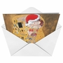 Creative Christmas Printed Greeting Card from NobleWorksCards.com - Santa Kiss image 2