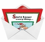 Humorous Christmas Greeting Card by Scott Nickel from NobleWorksCards.com - Santa Knows Everything image 2