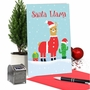 Hysterical Merry Christmas Printed Card From NobleWorksCards.com - Santa Llama image 5